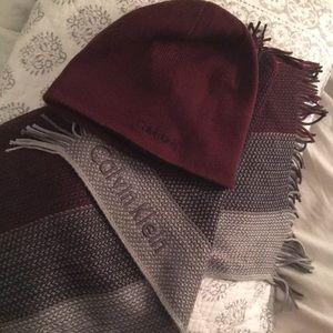 Calvin Klein Hat and Blanket Scarf!